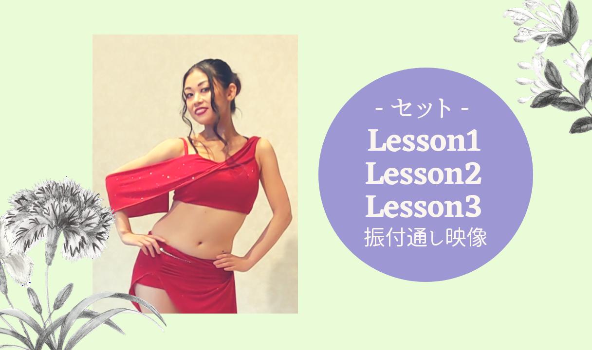 Lesson1〜Lesson3セット(振付通し動画付)