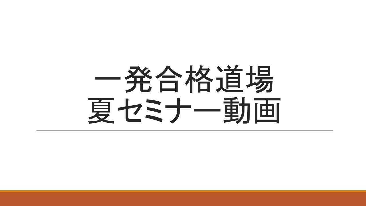 2次試験対策 2019年夏セミナー 全コンテンツセット